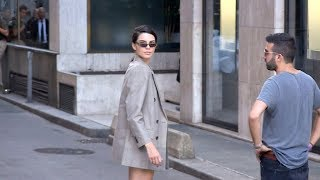 EXCLUSIVE : Kendall Jenner coming out of the 2017 Fendi Haute Couture show in Paris