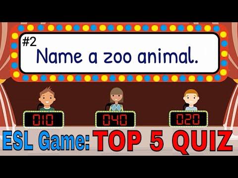 English Quiz For Kids | Easy ESL Quiz | ESL Classroom Games