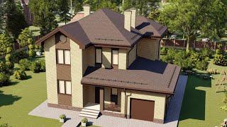 Проект дома 212-B, Площадь дома: 212 м2, Размер дома:  13,7x13,4 м