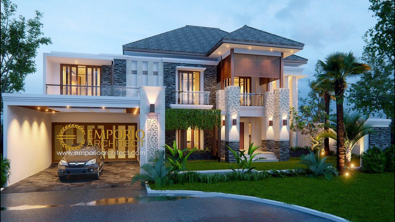 Video 3D Desain Rumah Villa Bali 2 Lantai Bapak Budi - Bekasi