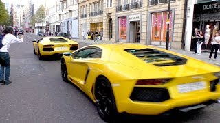 Lamborghini Aventador TWINS MAKING NOISE, not planning to go by UNNOTICED!