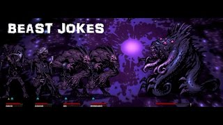Darkest Dungeon Challenges : Beast Jokes (2 Abominations VS Shambler)
