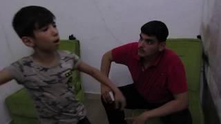 فارس المسرح السوري في تركيا جاد أسود مع أحمد حداد في بروفة مشهد التبدل من مسرحية #تاعو_نحلم