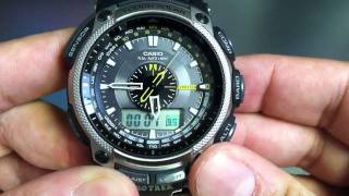 708b7d773bdc0 Titanium Casio Protrek PRG-500T-7DR Watch.