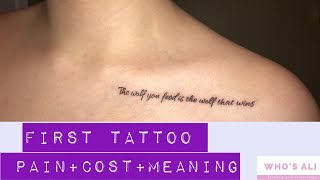 FIRST TATTOO EXPERIENCE