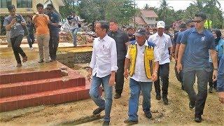 Jokowi Merasa Perlu Ada Kurikulum Kebencanaan setelah Tinjau Lokasi Tsunami di Pantai Mutiara Carita