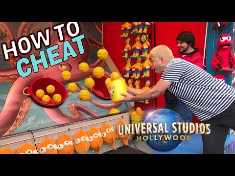 How To Cheat At Universal Studios Carnival Games | BIG GIVEAWAY! Mp3
