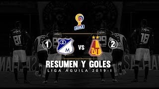 Millonarios Vs Tolima: Resumen Y Goles Del Partido 1-2 - Liga Águila 2019-I