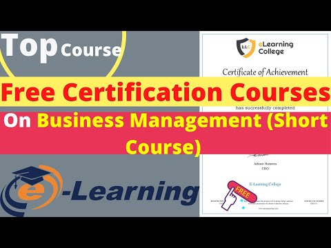 Business Management Short Course With Free Certificate From ...