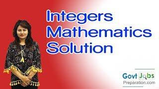 Integers Mathematics - Solution By Preety Uzlain