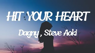 Dagny , Steve Aoki - Hit your Heart ( lyrics )