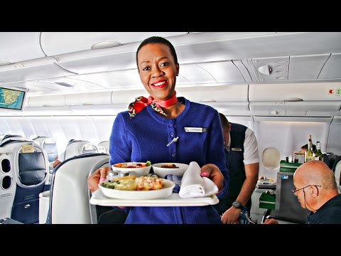 TRIP REPORT   South African Airways BUSINESS CLASS   Airbus A340-600   Johannesburg to Cape Town!