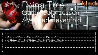 Doing Time Guitar Solo Lesson - Avenged Sevenfold (with tabs)