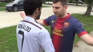 Cristiano Ronaldo vs. Messi - Fight Each Other | In Real Life!