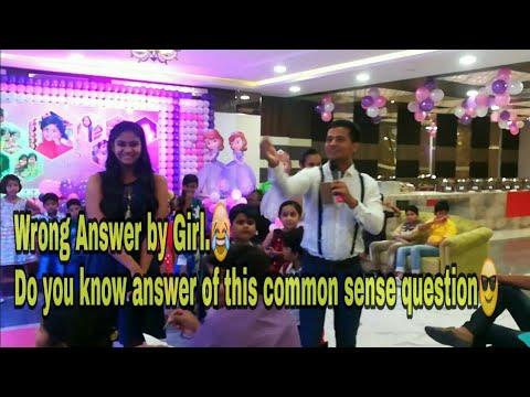 Common sense quiz in party