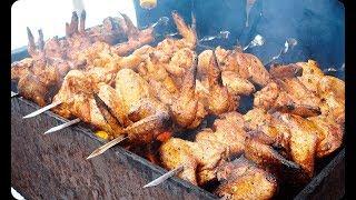 Очень сочный шашлык из курицы/3 рецепта маринада для шашлыков/Овощи в мангале