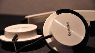 Philips SHL3000 on-ear white headphones Unboxing -Hal Thompson