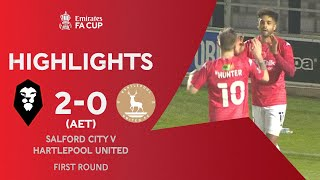 Salford Survive Scare In Extra-Time | Salford City 2-0 Hartlepool | Emirates FA Cup 2020-21