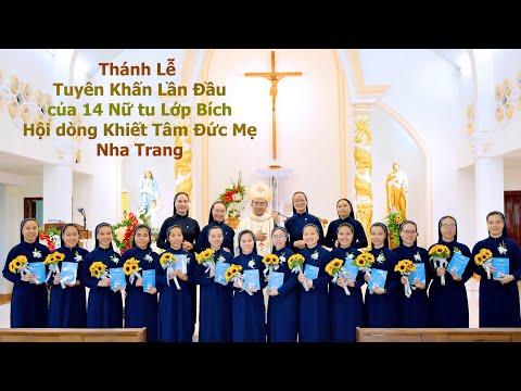 Lễ Khấn Lần Đầu Lớp Bích  5.2021- Hội dòng Khiết Tâm Đức Mẹ