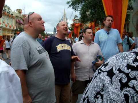 An acapella group gives an outstanding impromptu performance for Disney's Dapper Dans.