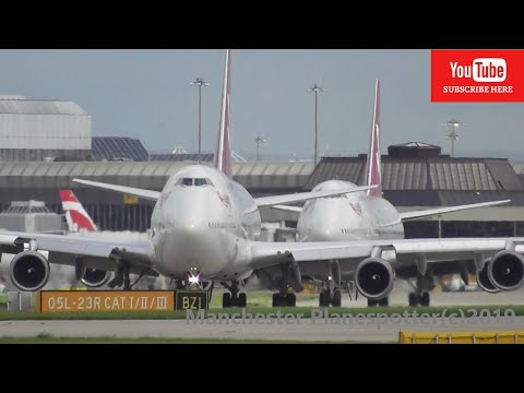 (HD) Plane Spotting At (MAN) Manchester Airport (EGCC) On The 02/09/2019
