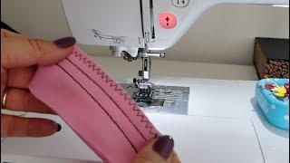elastische (Jersey) Stiche an der Haushaltsmaschine nähen