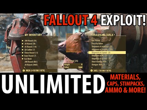 Fallout 4 Unlimited Items Exploit - Building Materials, Stimpacks, Caps, Ammo & MORE!