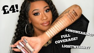MAKEUP REVOLUTION CONCEAL & DEFINE CONCEALERS! SWATCHES, DEMO & REVIEW (ALL SHADES)
