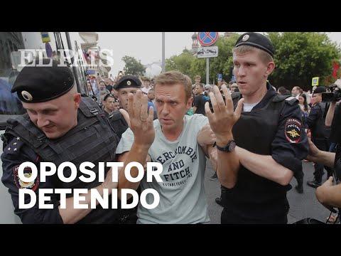 Rusia detiene al opositor Alexei Navalni en una protesta en Moscu