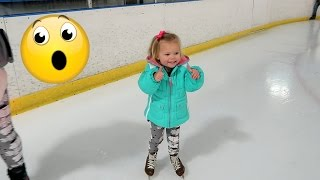 TWO YEAR OLD ICE SKATING!