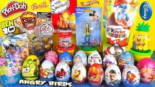 30 Kinder Surprise Eggs CraziTop Ben10 DOC Barbie HotWheels Play-Doh SpiderMan by TheSurpriseEggs