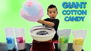 How To Make A GIANT COTTON CANDY Fairy Floss Kids Fun DIY With Ckn Toys