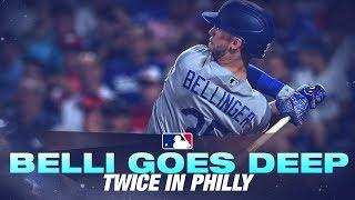 Bellinger Clobbers 2 home runs against Philadelphia