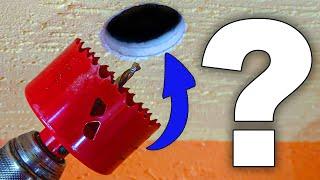 Bohrloch vergrößern Wand und Decke / Werkzeug zum vergrößern von Bohrlöchern.
