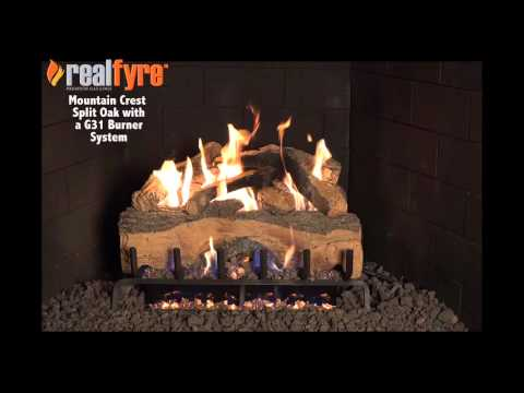 Peterson Real Fyre Mountian Crest Split Oak with G31 Burner System