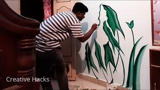 Optical Illusion Mural Wall Art  | Hidden Face Painting