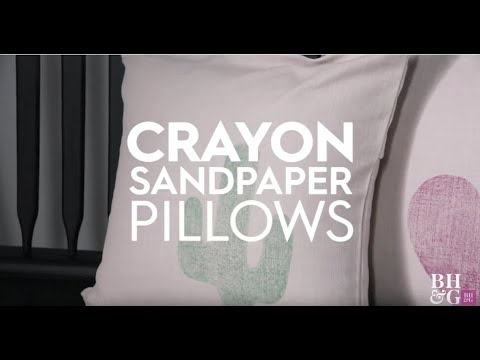 Crayon Transfer Pillow  | Made By Me Crafts | Better Homes & Gardens