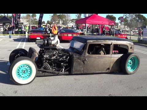 CRAZY RAT RODS RUSTED SUPERCARS DRIVE BY  CARS & COFFEE MUST SEE!!!