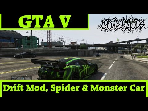 [GTA V/1.20] Drift Mod, Spider & Monster Car