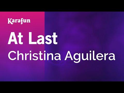 At Last - Christina Aguilera | Karaoke Version | KaraFun