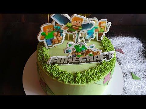 Как приготовить торт Майнкрафт