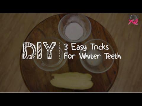 how to make teeth white naturally at home