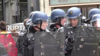 France: Clashes erupt during Paris march day before election