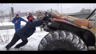 оффроад 4х4 Мега УАЗ Руса штурм ледяной горы-ржака и прикол!!! ))) off-road 4x4