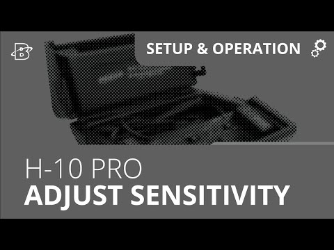 H-10 PRO | How to Adjust Sensitivity