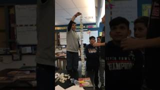 Crazy domino tower in class ( read description ) - Video Youtube