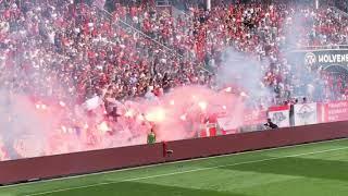 Royal Antwerp FC - Club Brugge: Pyroshow (Play-Off 1)