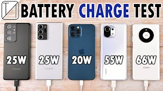 Samsung S21 Ultra vs Note 20 Ultra vs iPhone 12 Pro Max vs Mi 11 vs Mate 40 Pro Charging Speed Test