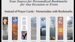 Memorial Bookmarks or Prayer Cards