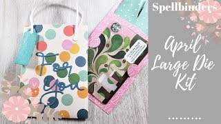 Spellbinders April 2019 Large Die Kit Of The Month | Bag W/Gift Card Holder